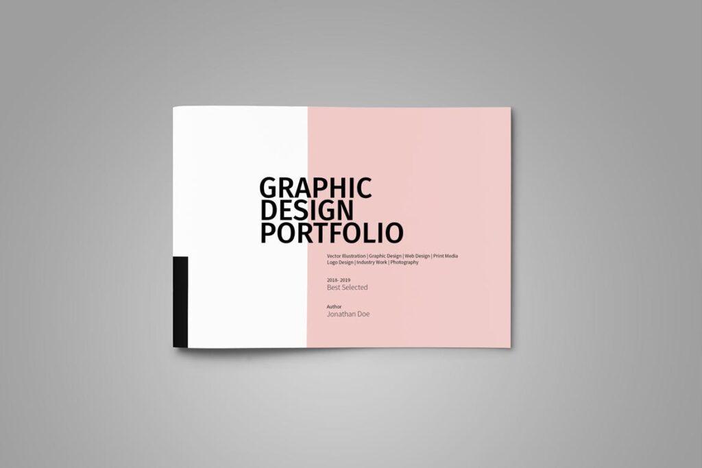 设计师工作产品/室内设计/家居设计展示画册模版Graphic Design Portfolio Template插图(3)
