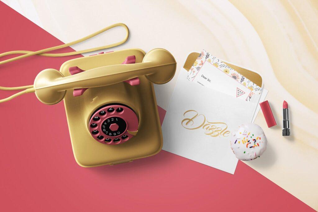 邀请函贺卡场景模型样机效果图下载Greeting Card Envelope Mockups插图(3)