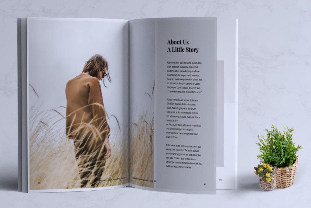 简约风格摄影工作室画册杂志模板HAVANA Minimal Magazine Fashion插图(3)