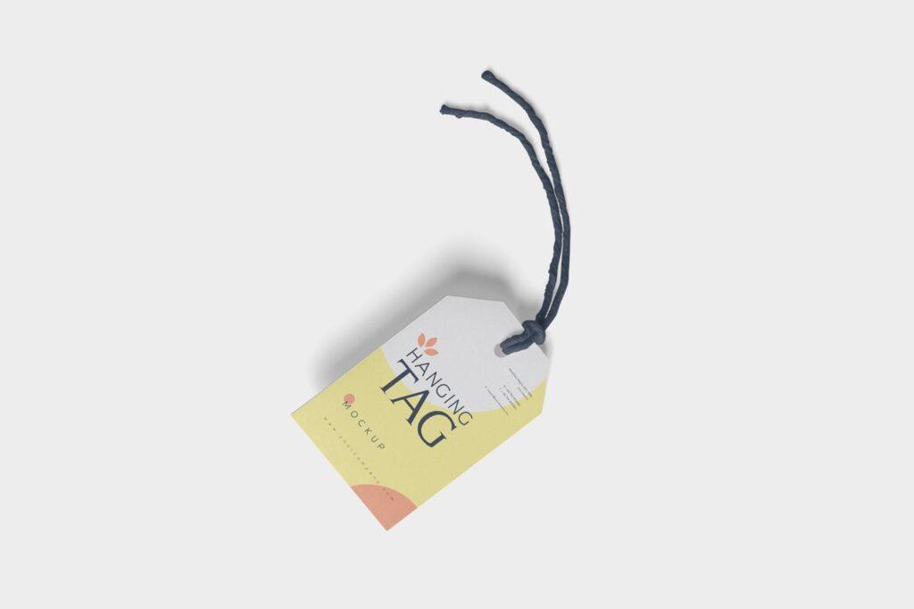 方形/圆形服装吊牌模型样机素材下载Hanging Tag Mockups NG5P4SM插图(3)