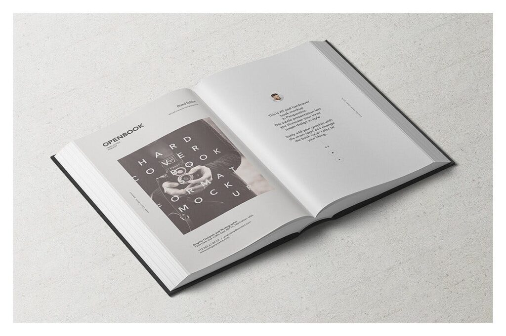 高端精装书样机模型展示效果图Hardcover Book Mockup Set A92gra插图(3)