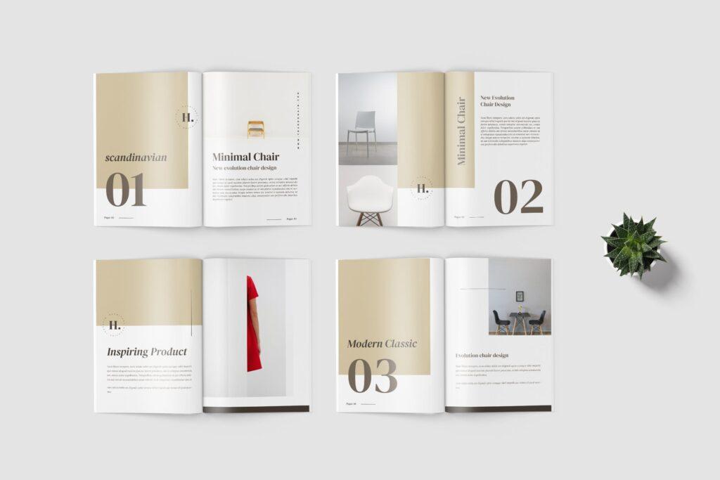 欧美家居/产品介绍画册杂志模版素材Hilary Furniture Magazine Template插图(3)