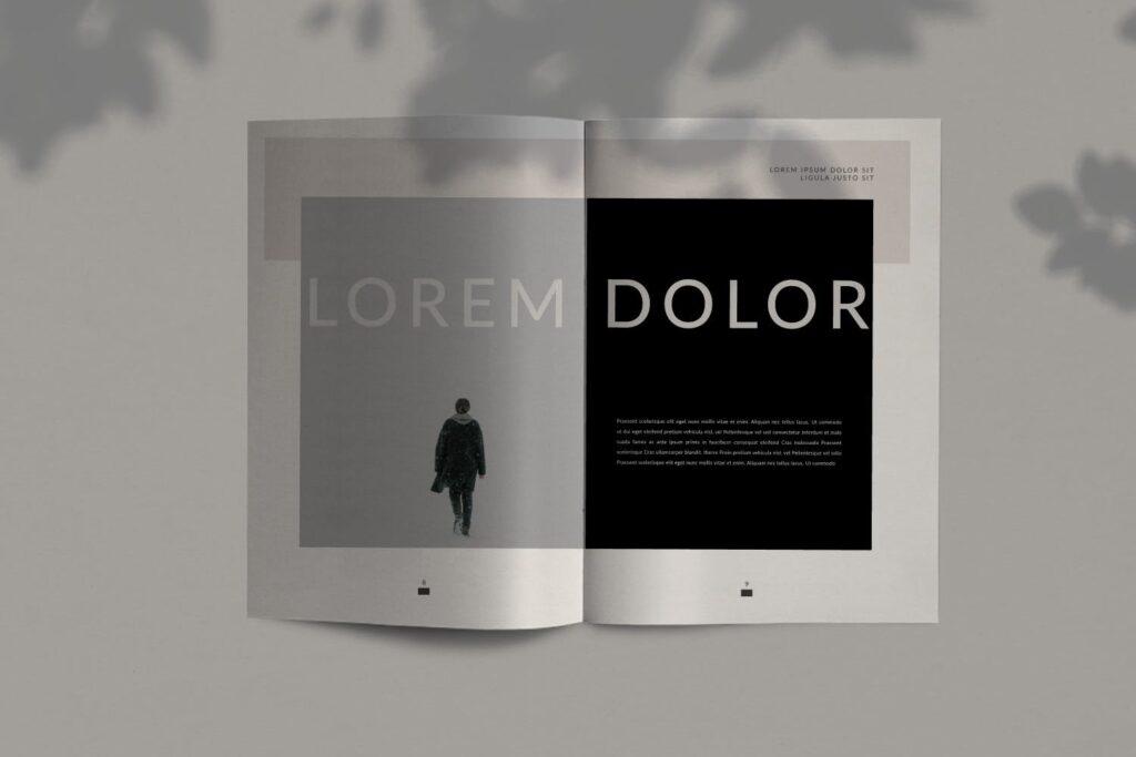现代简约企业规划书画册模板Lookbook Minimal Brochure Business Company插图(3)