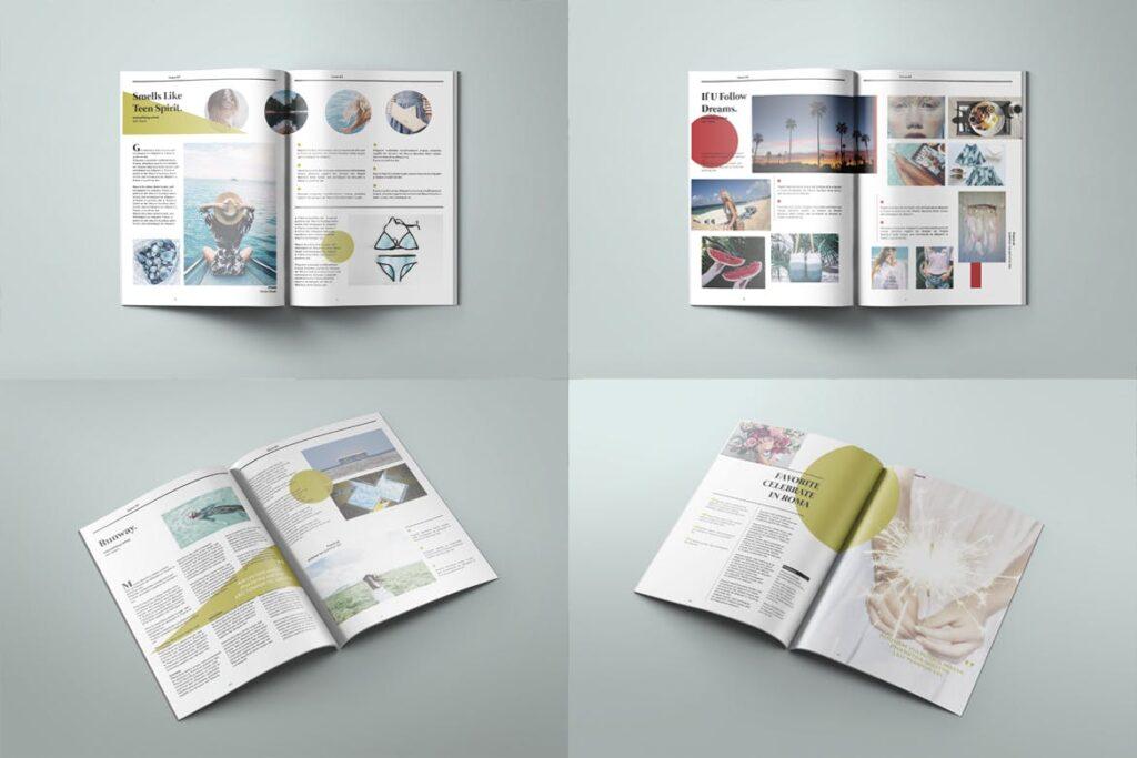 爱情夏日主题/美好生活方式杂志画册模版Love Summer Magazine Template插图(3)