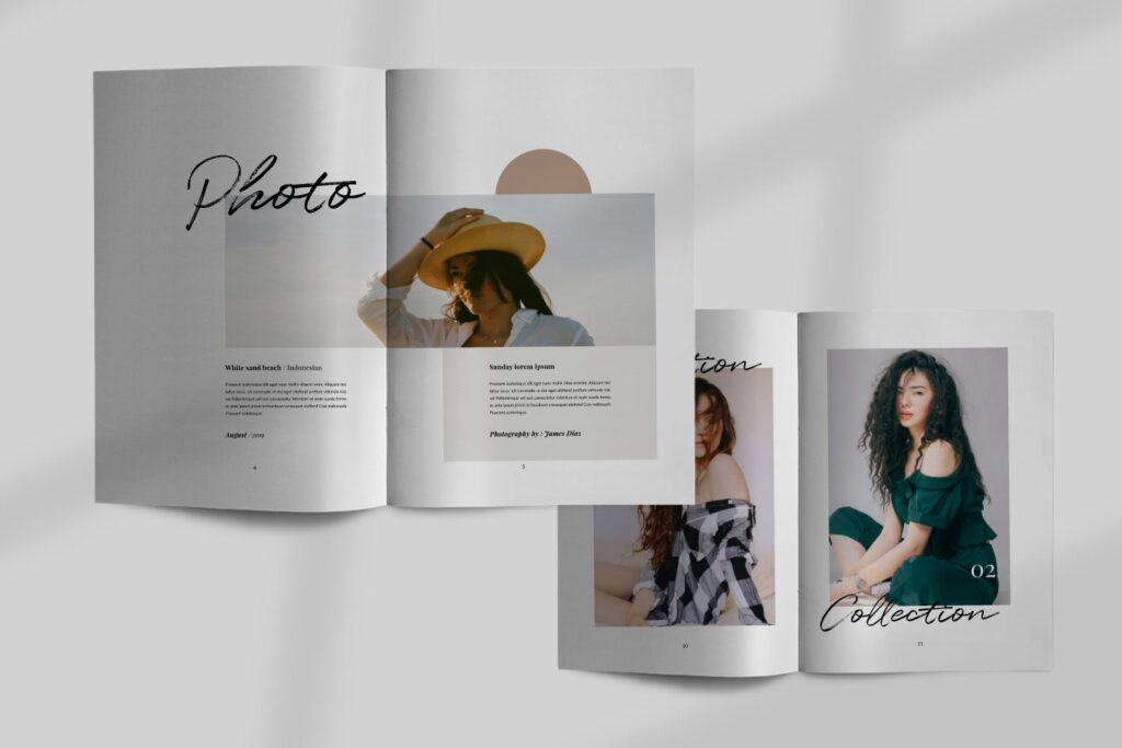 时尚企业产品目录/室内设计案例介绍画册模板Lullaby Lookbook Minimal Portfolio Corporate插图(2)