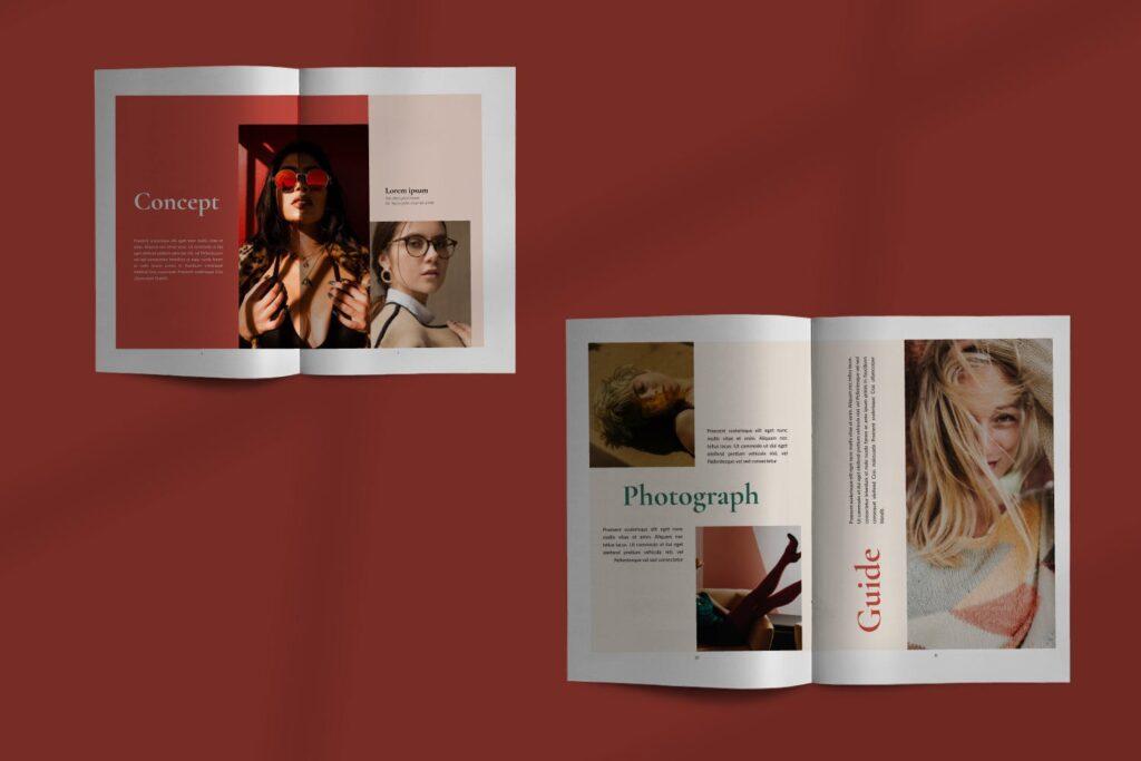 时尚潮流行业/室内设计工作室介绍画册杂志模版Luxury Brochure Catalogue minimal Corporate Agency插图(3)