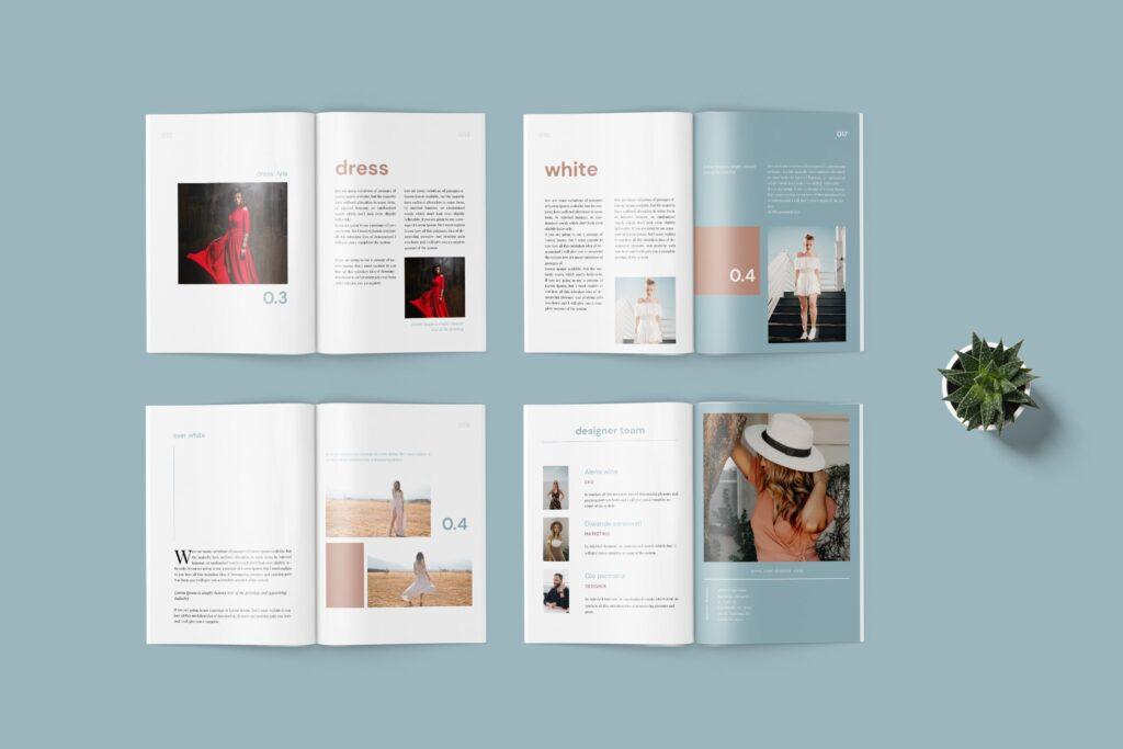 精致文艺时尚主题杂志主题画册模板Lyla Fashion Magazine Template插图(3)