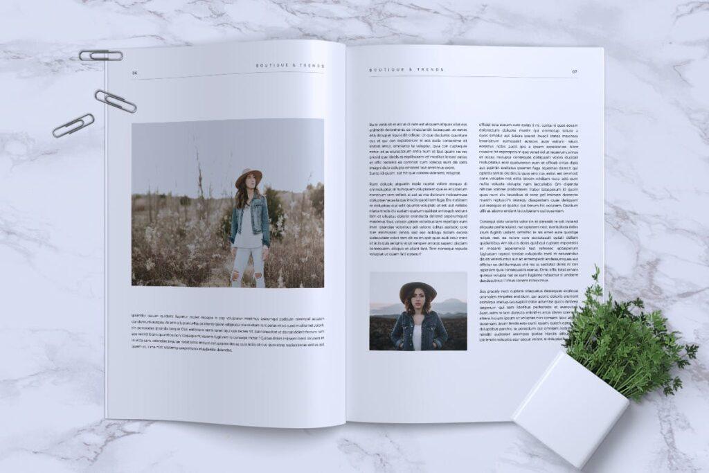 优雅时尚多用途杂志模板MISQUEEN Minimal Magazine Styles插图(3)