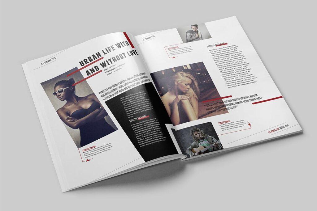 精英访谈采访主题杂志模板素材Magazine Template 8NSXE49插图(3)