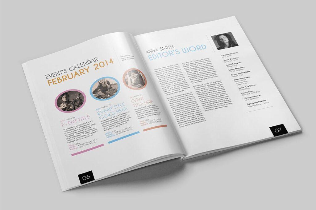 企业多用途杂志画册模板素材下载Magazine Template 4DG6APQ插图(3)