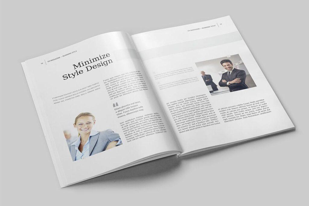 企业商务多用途/企业规划手册模板Magazine Template插图(3)