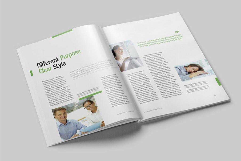 高端医学周刊/医疗咨询杂志画册模板Minimal Magazine插图(3)