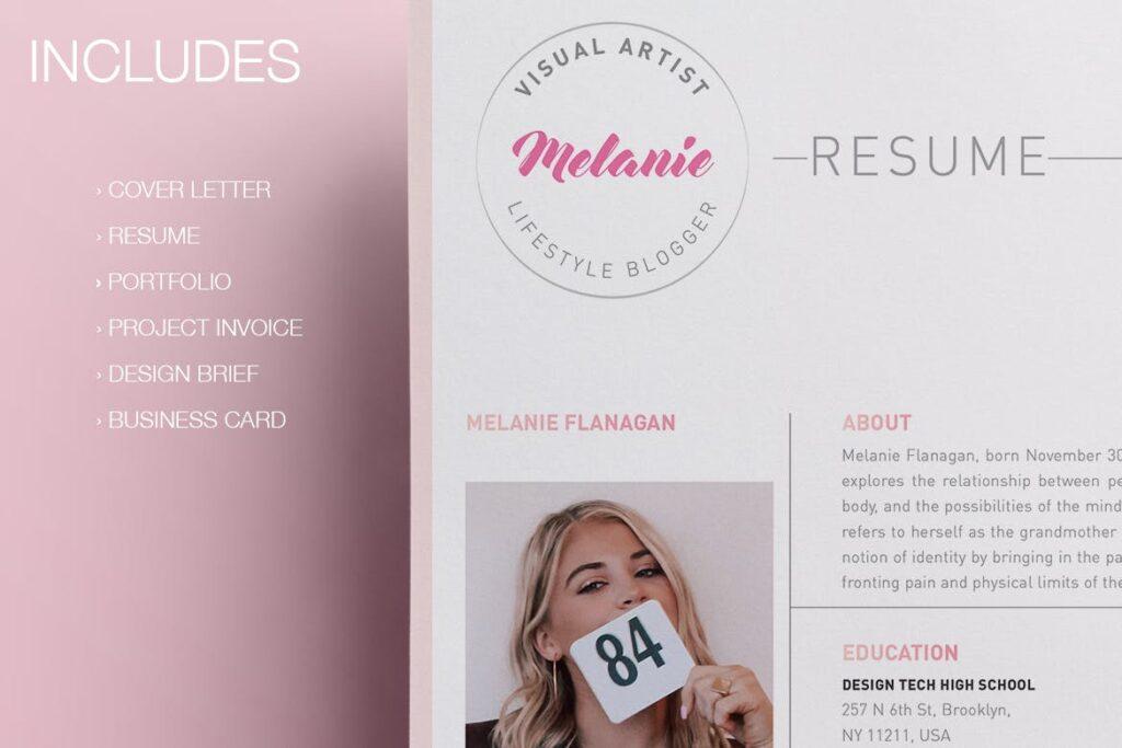 时尚多行业多用途印刷类模版素材Melanie Creative Stationery 01插图(3)