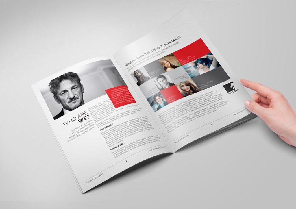企业市场部业务提案展示画册杂志模板素材Minimal Business Proposal插图(3)