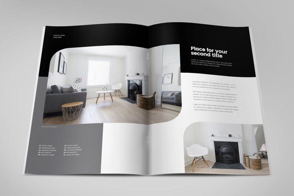 极简室内设计/居家生活美学杂志画册模板Minimal Interior Design Magazine插图(3)