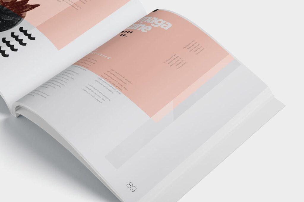 精致文艺杂志书籍封面内页样机模型下载8ydgm9u插图(3)