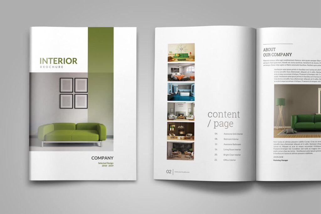 优雅简洁室内设计手册/目录/杂志画册模板PSD Interior Brochures Catalogs Magazine插图(3)