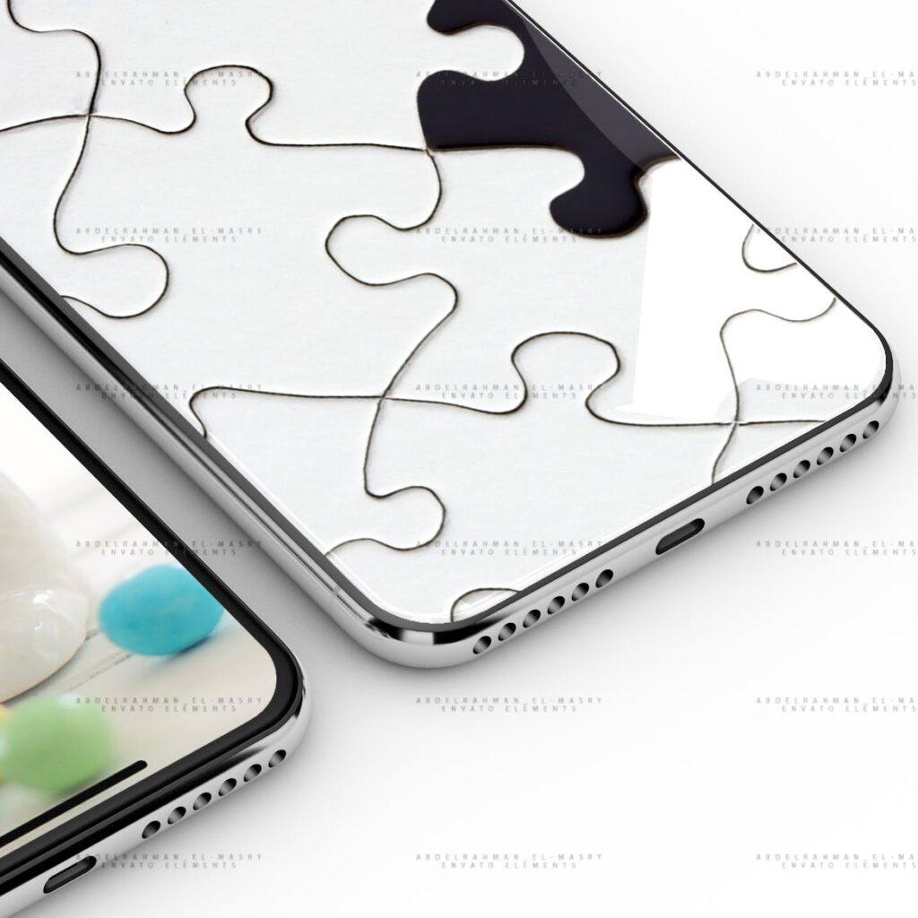 iPhoneX 手机模型样机/UI作品包装模型样机iPhoneX PSD Mock-Up插图(3)