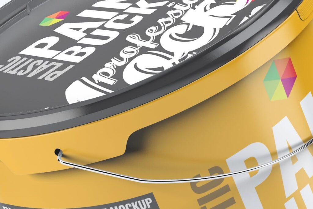 塑料油漆桶/街头艺术喷绘样机模型素材下载Plastic Paint Bucket Mock Up插图(3)
