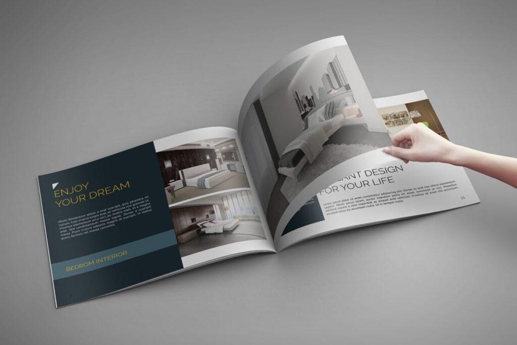 横版家居产品介绍/目录/投资组合画册模版素材Portfolio Brochure Catalog插图(3)