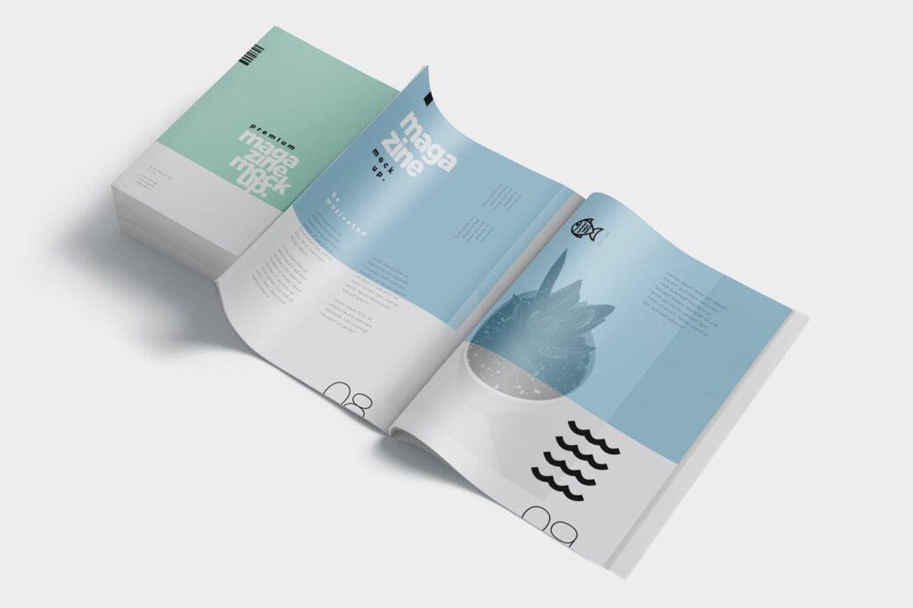 精致音乐主题类型画册样机Premium Magazine Mockups插图(3)
