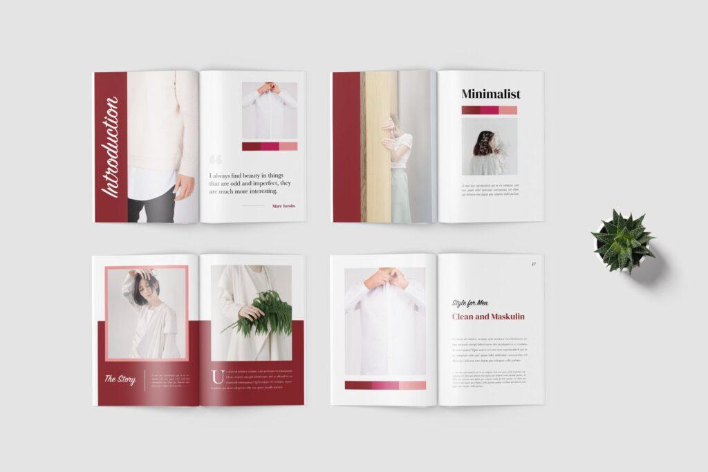 多用途企业简介模版素材画册展示样机Selena Fashion Lookbook Magazine插图(3)
