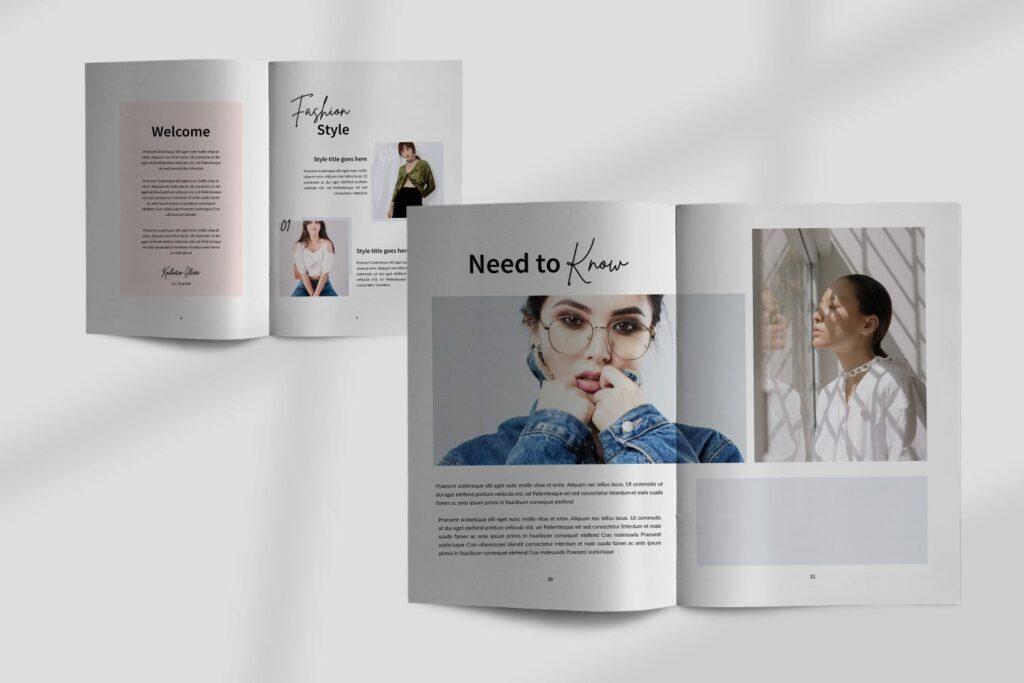 工作室室内设计行业产品目录展示画册Style Fashion Brochure Minimal Company Agency插图(3)
