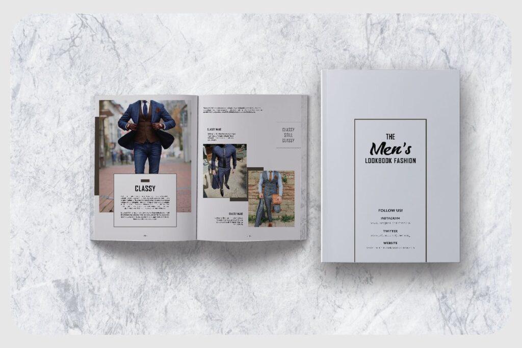 潮流男士服装品牌杂志模版The Mens Lookbook Magazine插图(3)