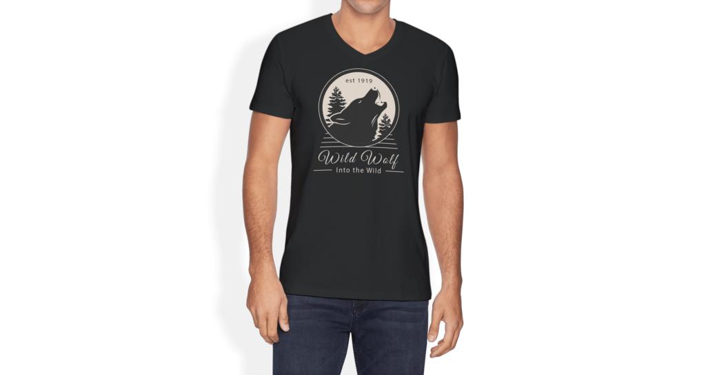 简约艺术类文化衫模型样机效果图V Neck T shirt Mockup Vol 10插图(3)