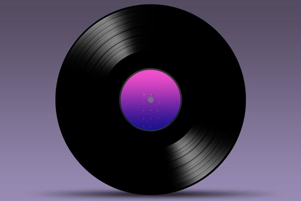 精致古典CD唱片样机模型效果图Vinyl Mock Up Template插图(3)