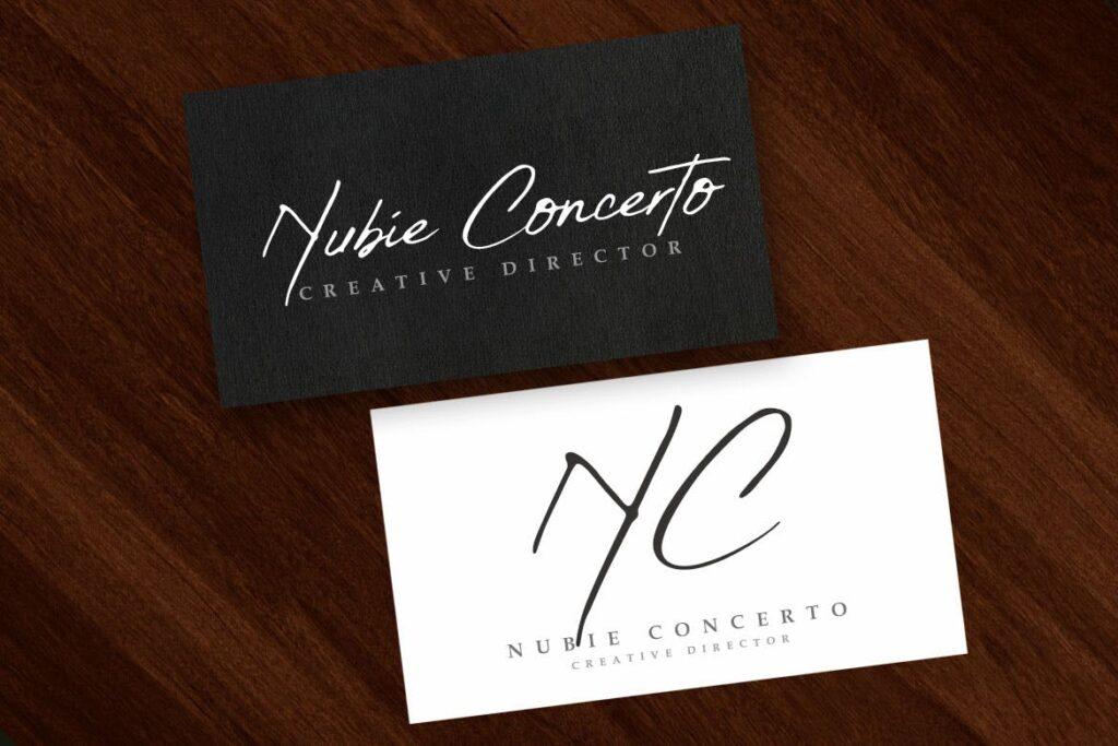 钢笔手写艺术签名英文字体模板素材下载Yusron Concertos插图(3)