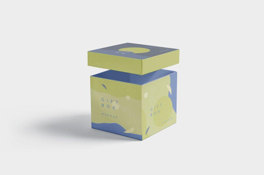 5个礼品包装盒/生日礼物模型样机模型效果图5 Attractive Gift Box Mockups插图(4)