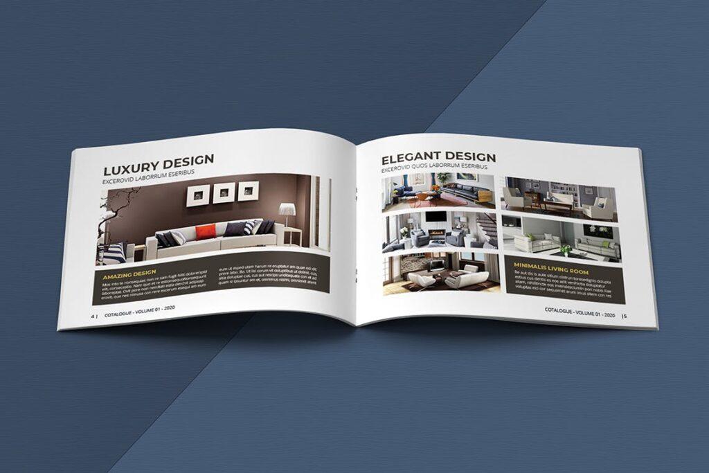 横版家居室内设计画册杂志模版A5 Interior Catalogue ASFEWQ插图(4)