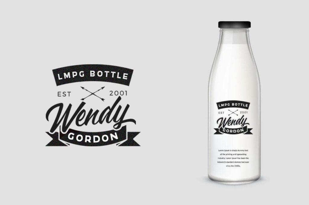 咖啡品牌包装书法风格英文字体下载Adelaide Font插图(3)