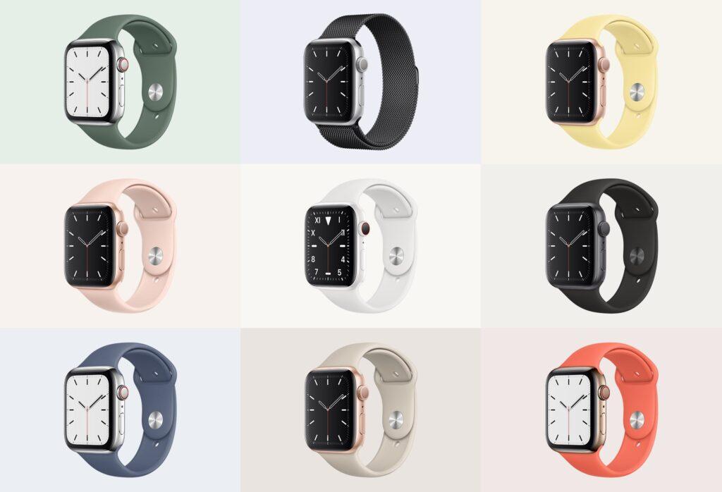 苹果手表系列5展示效果图样机模型下载Apple Watch Mockup Series 5插图(4)