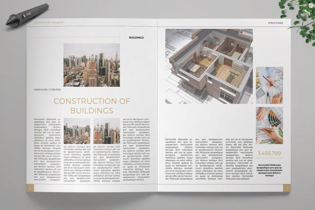 建筑设计/生态空间规划杂志模板Architecture Magazine插图(3)