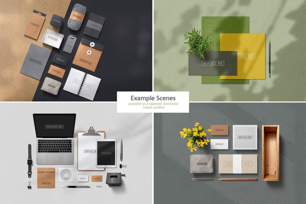艺术品牌VI场景素材大合集Art Branding Scene Generator Part 1插图(4)