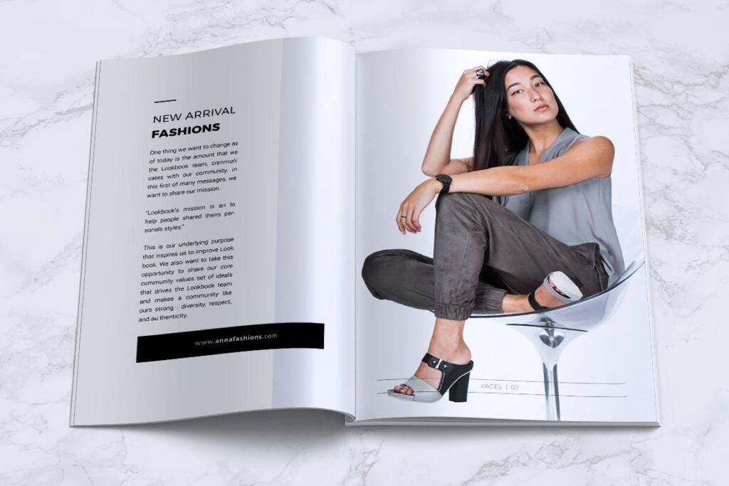 女性时尚服装品牌杂志模板BLANKS Minimal Fashion Magazine插图(4)