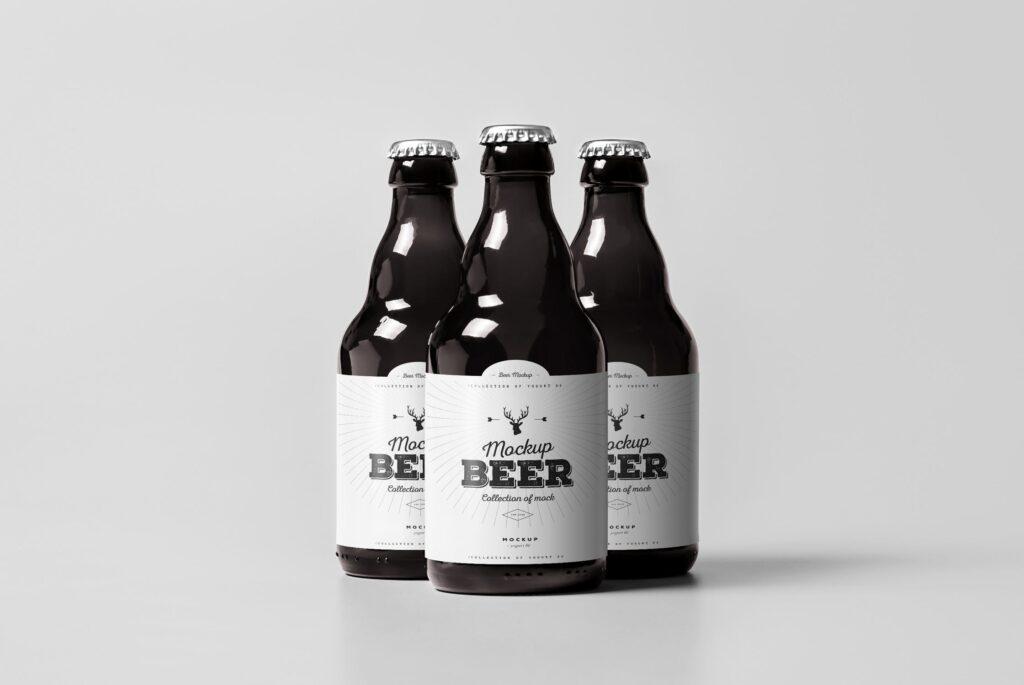 啤酒品牌包装/啤酒瓶包装模型样机模型下载Beer Mockup 2 DV9XAA插图(4)