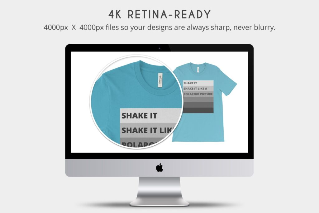 4K分辨率男士T恤展示效果样机素材Bella Canvas 3001 T Shirt Mockups插图(4)