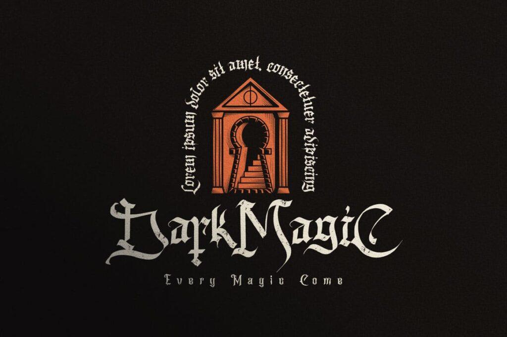 万圣节主题海报宣传衬线英文字体下载Blackink Blackletter Font插图(4)