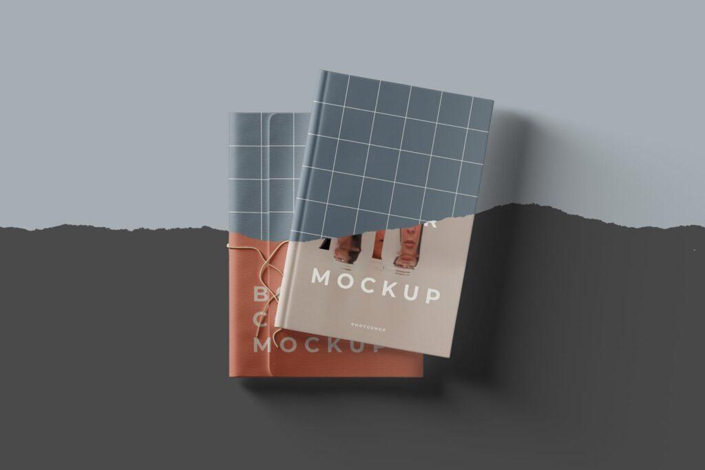 4个精致文艺封面书籍PSD模型样机效果图Book Cover Mockups Pwt5ryq插图(4)