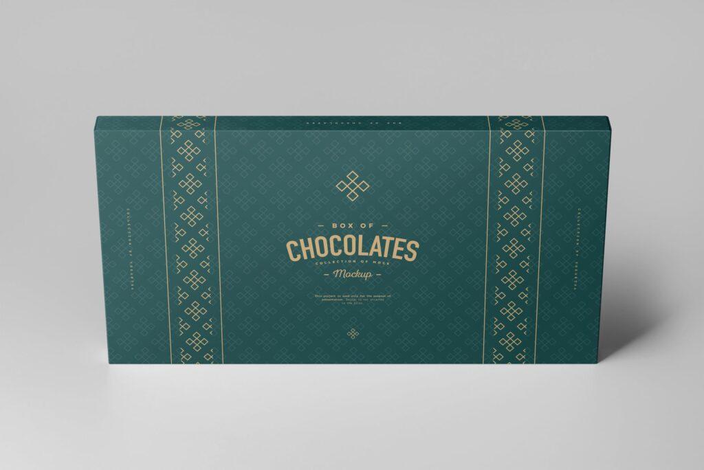 精致巧克力品牌包装模型样机效果Box Of Chocolates Mockup 2插图(4)