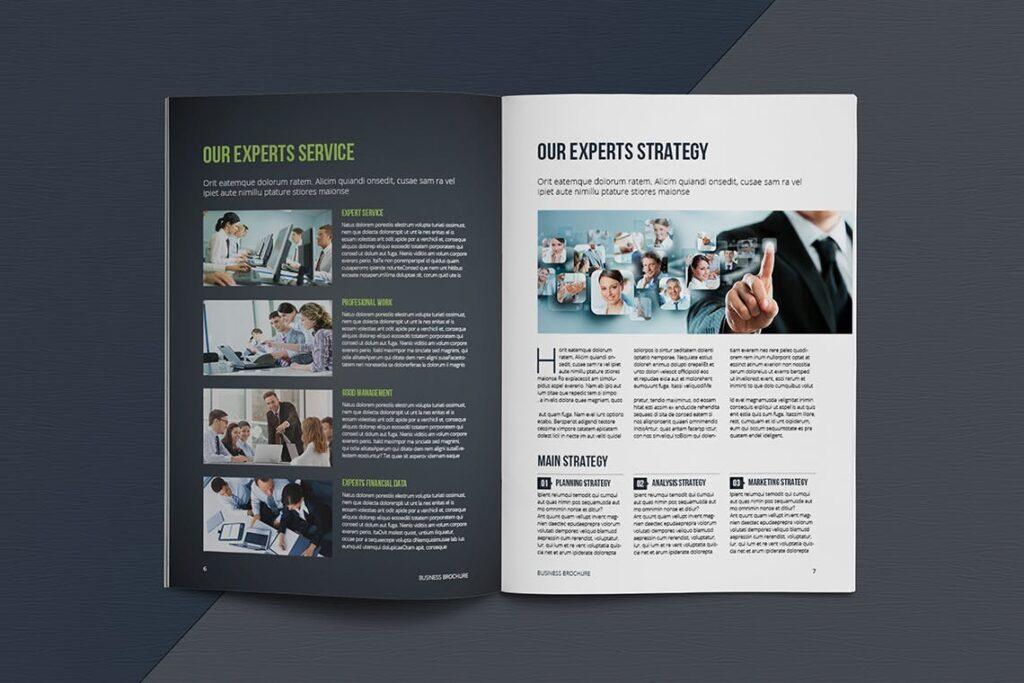 整洁典现代专业的企业商务手册模板Business Brochure Template DV95G插图(4)