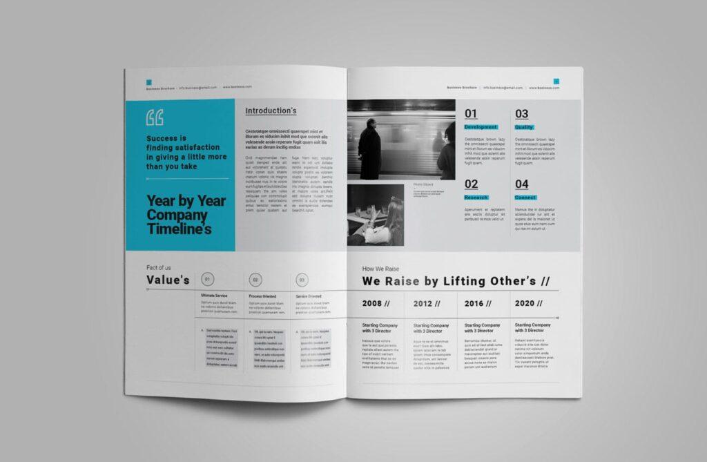 企业简介商务手册历史介绍杂志画册模板Business Profile插图(4)
