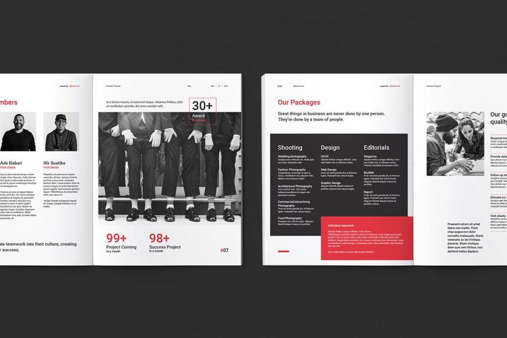 公司手册项目企划书画册模版素材Business Proposal插图(4)