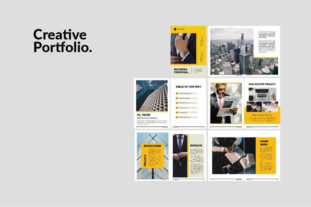 企业商务类画册模板素材画册模板Bussiness Proposal Brochure Company插图(3)