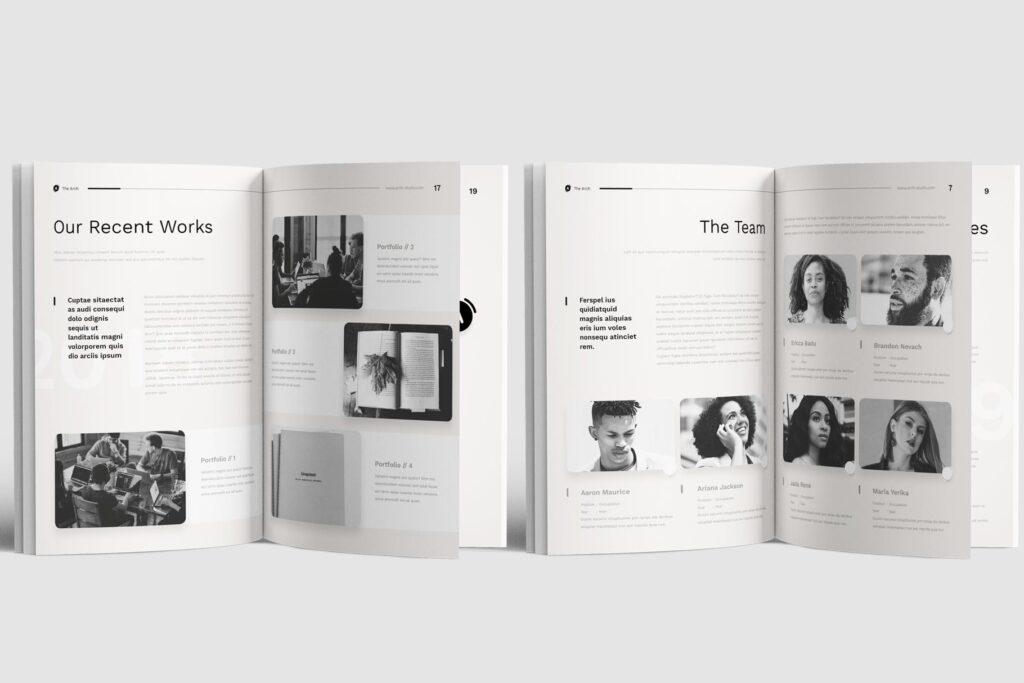 企业产品介绍画册模板素材Company Profile D9JHZJ插图(3)