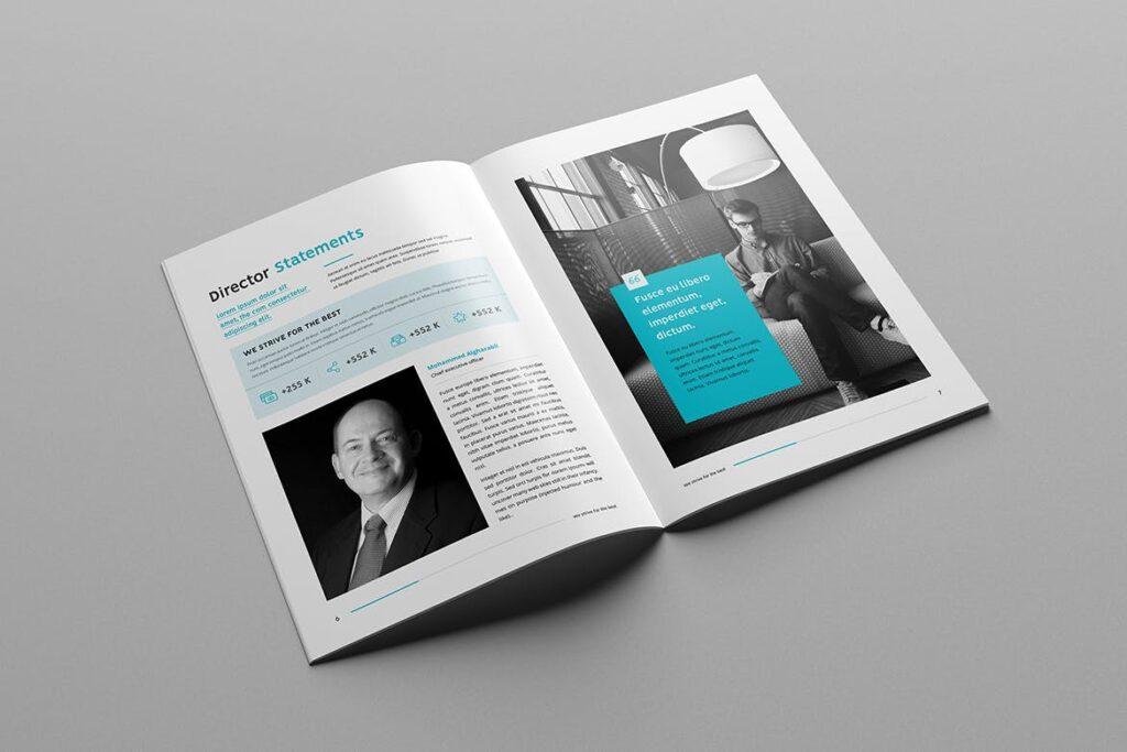 公司简介企业画册商务手册杂志模板素材Company Profile Z2NA6V插图(4)
