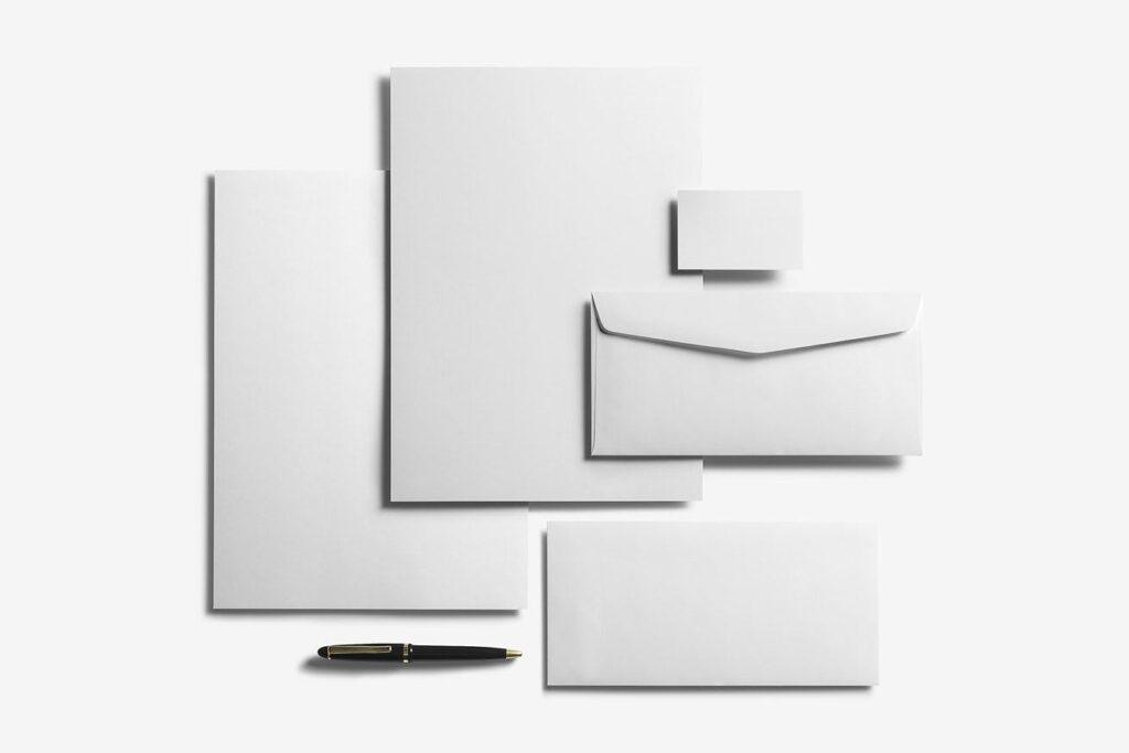 优质企业办公品牌文具样机模型下载Corporate Stationery Branding Mockup插图(4)